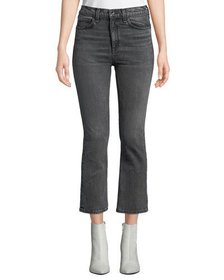 Rag & Bone Hana High-Rise Cropped Boot-Cut Jeans