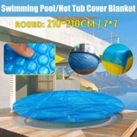7x7ft Blue Round Spa & Hot Tub Thermal Solar Blank