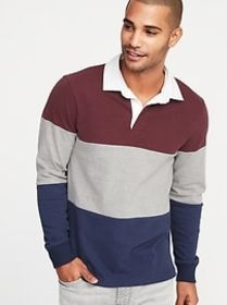 Color-Blocked Jersey Rugby for Men