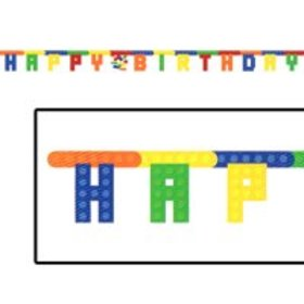5.5' Blocks Happy Birthday Jointed Banner 1-count