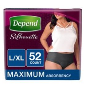 Depend Silhouette Incontinence Briefs for Women, M