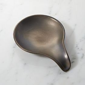 Mason Metallic Glaze Ceramic Spoon Rest