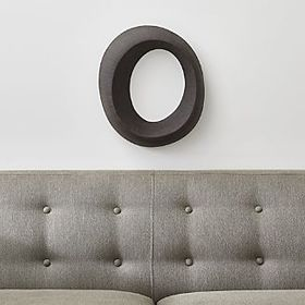 Alura Dark Grey Loop Ceramic Wall Art