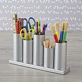 Silver Metal Storage Caddy