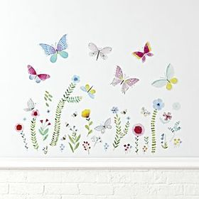 Butterfly Garden Wall Decals