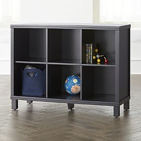 Navy 6-Cube Bookcase