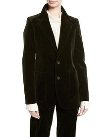 Joseph Albert Stretch Velvet Blazer Jacket