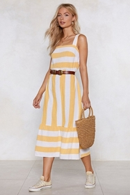 Be Stripe Back Striped Dress