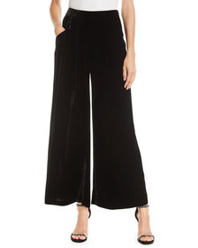 Eileen Fisher Velvet Wide-Leg Pants