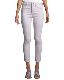 Rag & Bone Raw-Edge High-Rise Ankle Skinny Jeans