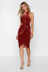 Too Touch of Something Velvet Dress