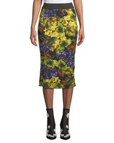 Dolce & Gabbana Elastic-Waist Grape-Print Tube Ski