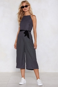 You Really Dot Me Polka Dot Jumpsuit