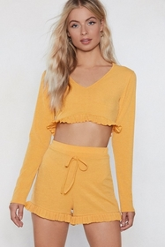 Let It Rest Lounge Crop Top and Shorts Set