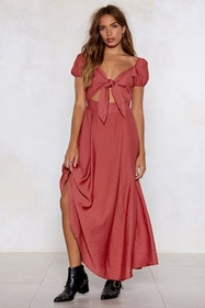 High and Tie Maxi Dress