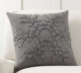 Drew Snowflake Embroidered Pillow Cover