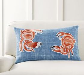 Mr. Crabs Embroidered Pillow Cover