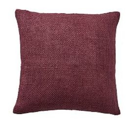 Faye Textured Linen Pillow Cover - Claret