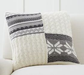 Sweater Patchwork Pillow Cover