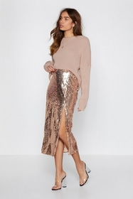 It's Payback Shine Sequin Skirt