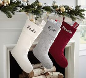 Personalized Scroll Quilted Velvet Stocking