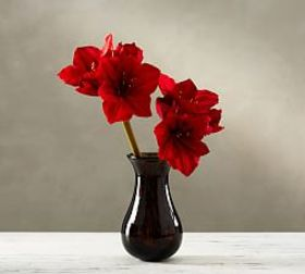 Faux Amaryllis Stem - Red