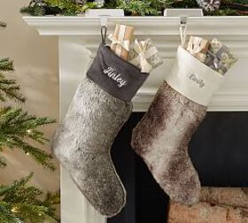 Personalized Faux Fur Stockings - Ombre