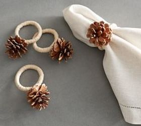 Pinecone Napkin Ring, Set of 4