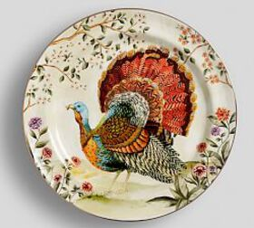 Botanical Harvest Turkey Dinner Plate, Set of 4