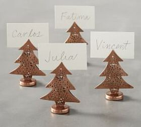 Copper Tree Place Card Holder, Set of 4