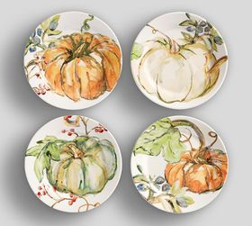 Harvest Pumpkin Salad Plates, Set of 4