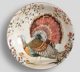 Botanical Harvest Turkey Serve Bowl