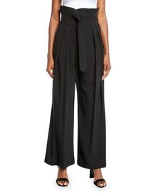 A.W.A.K.E. Undone Pleated High-Waist Trousers