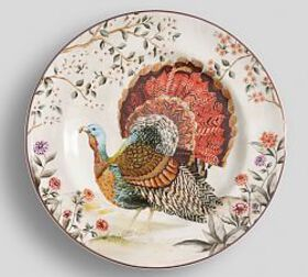 Botanical Harvest Turkey Salad Plate, Set of 4