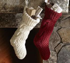 Personalized Chunky Knit Stockings