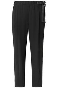 BRUNELLO CUCINELLI Bow-detailed crepe tapered pant