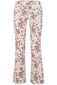 GABRIELA HEARST Floral-print crepe flared pants