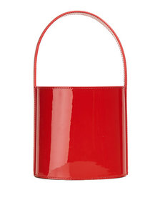 Staud Bissett Patent Leather Top-Handle Bucket Bag