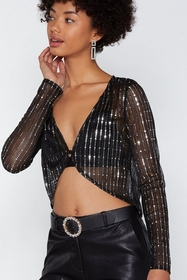 I Love the Nightlife Sequin Top