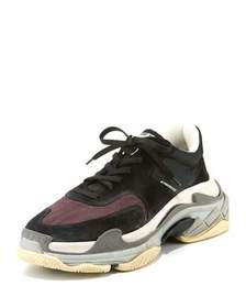 Balenciaga Men's Triple S Mesh & Leather Sneakers,