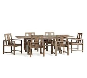 Indio Table & Chair Dining Set, Gray