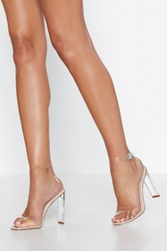 Chances Are Slim Clear Heel