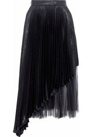 CHRISTOPHER KANE Layered tulle and pleated lamé si