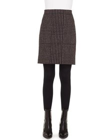 Akris punto Houndstooth Metallic Jacquard Pencil M
