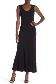 Theory Solid Cowl Back Maxi Dress