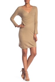 Lucca Couture Sav Ribbed Surplice Sheath Dress