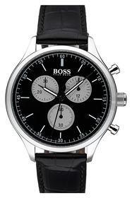 BOSS Companion Chronograph Leather Strap Watch