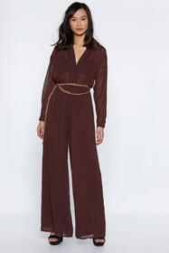 Chiffon Your Shoulder Wide-Leg Jumpsuit
