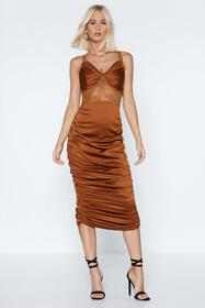 Lace to the Finish Satin Dress