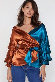 Going Fifty Fifty Wrap Top